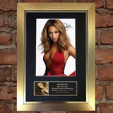 BEYONCE No1 Mounted Signed Photo Reproduction Autograph Print A4 234