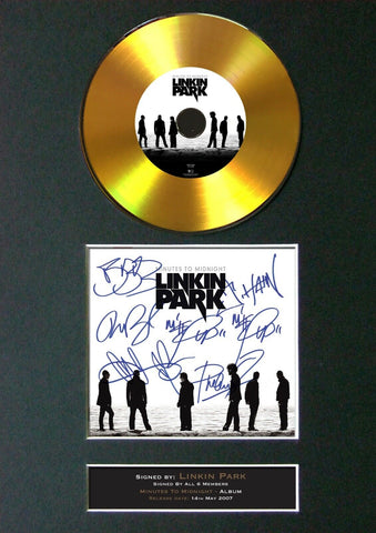 #189 LINKIN PARK Minutes to Midnight GOLD DISC Album Signed Autograph Print