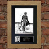 JOHN WAYNE Autograph Mounted Signed Photo Reproduction Print A4 129