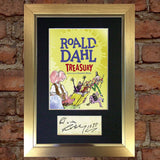 ROALD DAHL The Treasury Book Cover Autograph Signed Mounted Print 684