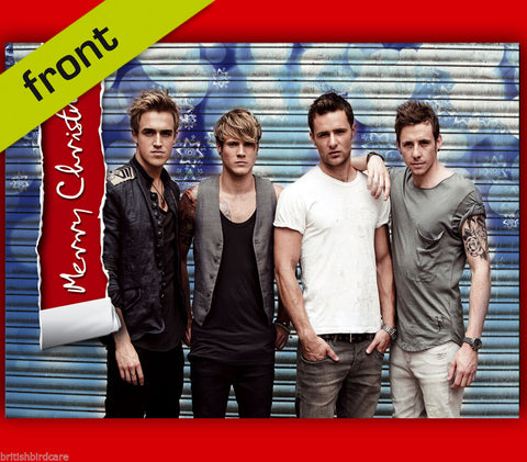 McFly Autograph Signed Christmas Card Reproduction A5 Inc Envelope