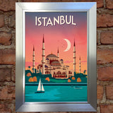 ISTANBUL VINTAGE RETRO TRAVEL Poster Nostalgic Home Art Print Wall Decor #41