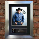 GEORGE STRAIT Photo Autograph Signed Mounted Repro Framed Album Print A4 787