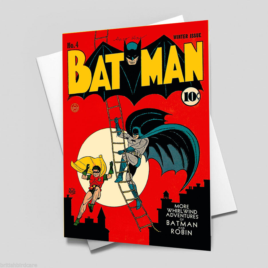 BATMAN Comic Cover 4th Edition Cover Reproduction Vintage Wall Art Print #2