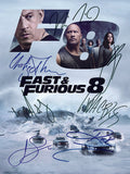 Fast and Furious 8 Quality Autograph Mounted Signed Photo Repro Print A4 701