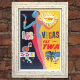 LAS VEGAS VINTAGE RETRO TRAVEL Poster Nostalgic Home Art Print Wall Decor #46