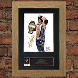 A J STYLES WWE Quality Autograph Mounted Photo Repro Print A4 510