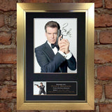PIERCE BROSNAN Mounted Signed Photo Reproduction Autograph Print A4 275