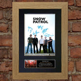 SNOW PATROL Mounted Signed Photo Reproduction Autograph Print A4 111