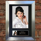 SELINA GOMEZ Mounted Signed Photo Reproduction Autograph Print A4 215
