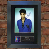 PRINCE Mounted Signed Photo Reproduction Autograph Print A4 376
