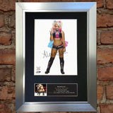 ALEXA BLISS WWE Quality Autograph Mounted Signed Photo Reproduction Print A4 696