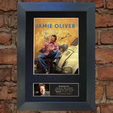 JAMIE OLIVER Mounted Signed Photo Reproduction Autograph Print A4 15