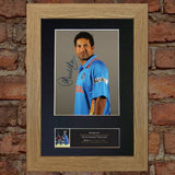 SACHIN TENDULKAR Cricket Signed Autograph Mounted Photo Repro A4 Print 548