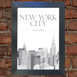 NEW YORK #3 VINTAGE RETRO TRAVEL Poster Nostalgic Home Print Wall Art Decor #61