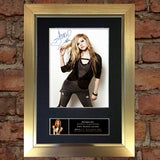 AVRIL LAVIGNE Mounted Signed Photo Reproduction Autograph Print A4 219