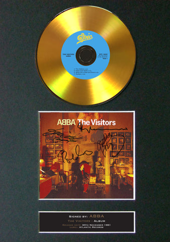 #129 Abba GOLD DISC Album Signed Autograph Mounted Repro A4