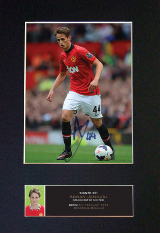 Adnan Januzaj  Man U Signed Autograph Mounted Photo REPRO PRINT A4 554