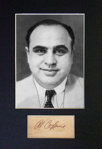 AL CAPONE Gangster RARE Quality Signed Autograph Mounted Photo PRINT A4 574