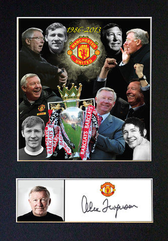 ALEX FERGUSON Mounted Signed Photo Reproduction Autograph Print A4 343
