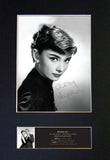 AUDREY HEPBURN Signed Autograph Mounted Photo Reproduction Print A4 513