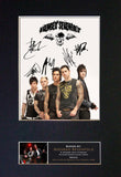 AVENGED SEVENFOLD Mounted Signed Photo Reproduction Autograph Print A4 120