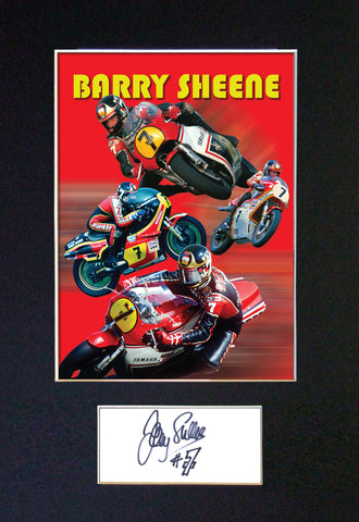 Barry Sheene Signed Autograph Quality Mounted Photo Repro A4 Print 553