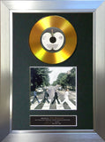 #137 The Beatles - Abbey Road GOLD DISC Album Signed Autograph Mounted Repro