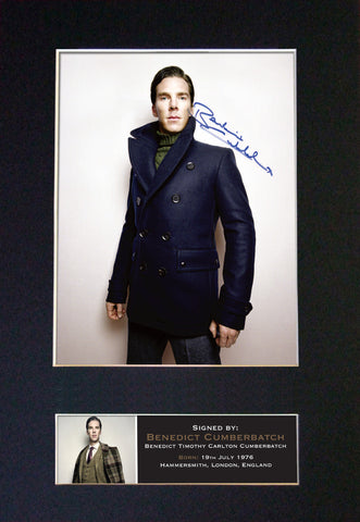 Benedict Cumberbatch Signed Autograph Mounted Photo Reproduction PRINT A4 420
