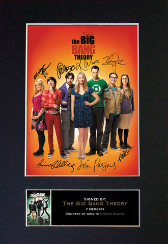 THE BIG BANG THEORY Mounted Signed Photo Reproduction Autograph Print A4 272