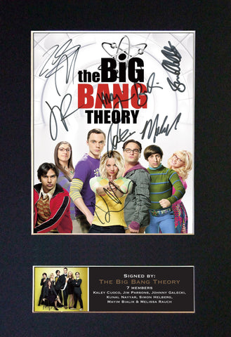 THE BIG BANG THEORY #2 Quality Autograph Mounted Signed Photo Repro Print A4 723