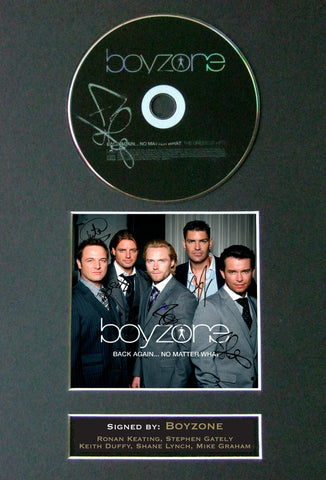BOYZONE Gately Keating Signed Autograph CD & Cover Photo Repro A4 Print (26)