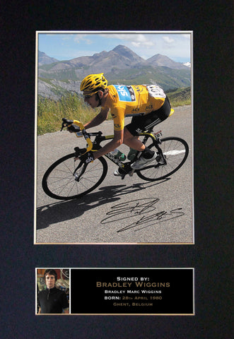 BRADLEY WIGGINS Mounted Signed Photo Reproduction Autograph Print A4 277