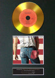 #147 Bruce Springsteen - Born in the USA GOLD DISC Album Signed Autograph Mounted Repro