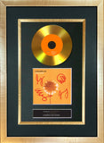 #83 Coldplay - Yellow GOLD DISC Cd Album Signed Autograph Mounted Print