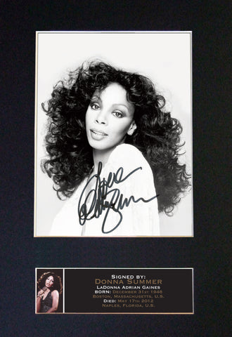 DONNA SUMMER Very Rare Quality Autograph Mounted Signed Photo PRINT A4 666