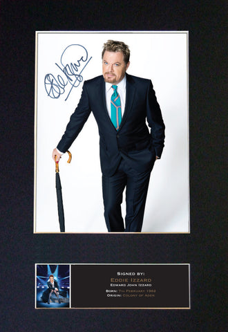 EDDIE IZZARD Quality Autograph Mounted Photo Repro A4 Print 483