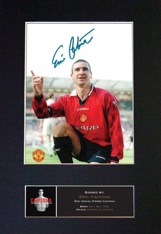 ERIC CANTONA Man U Signed Autograph Mounted Photo Repro A4 Print 488