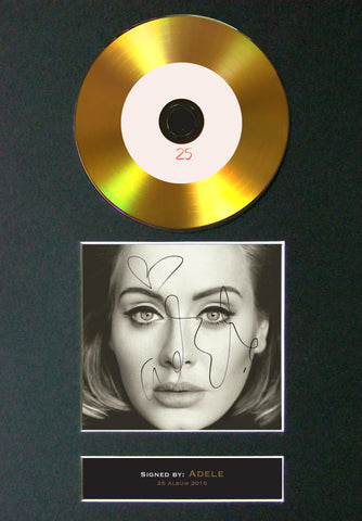 #Adele - 25 GOLD DISC Cd Album Signed Autograph Mounted Print