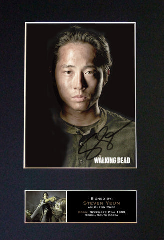 GLENN RHEE The Walking Dead Signed Autograph Mounted Photo Repro A4 Print 631