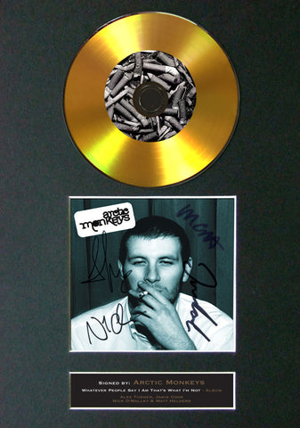 ARCTIC MONKEYS Album Signed CD COVER MOUNTED A4 Autograph Repro Print (50)