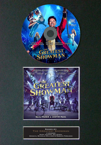 #169 Greatest Showman GOLD DISC Album Signed Autograph Mounted Repro