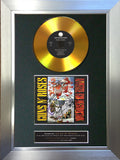 #167 Guns & Roses - Appetite GOLD DISC Album Signed Autograph Mounted Repro