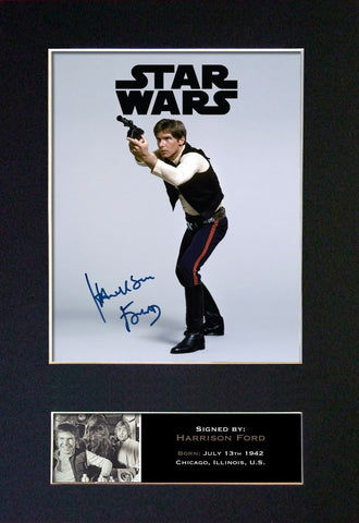 HARRISON FORD Gift Signed A4 Printed Autograph Star Wars Gifts HANS SOLO 840