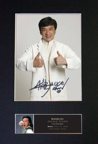JACKIE CHAN Chan Kong-Sang Signed Autograph Mounted Photo Repro A4 Print 495
