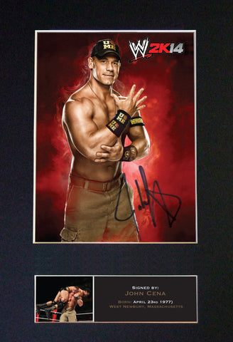 JOHN CENA WWE Quality Autograph Mounted Photo Repro A4 Print 527