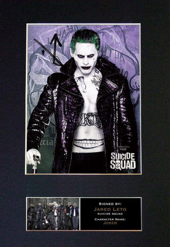 SUICIDE SQUAD Joker Jared Leto Signed Autograph Mounted Photo Repro A4 Print 619