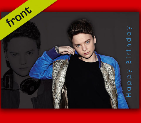 CONOR MAYNARD (CM01) Autograph BIRTHDAY Repro Card Including Envelope A5 21x15cm