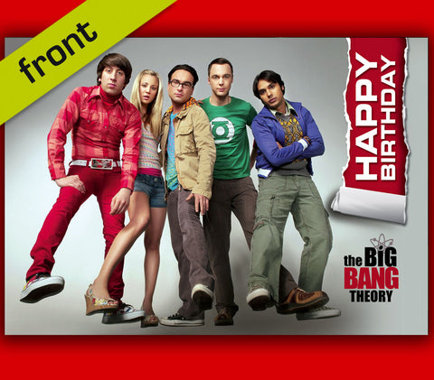 BIG BANG THEORY Autograph BIRTHDAY Card Reproduction Including Envelope A5 size