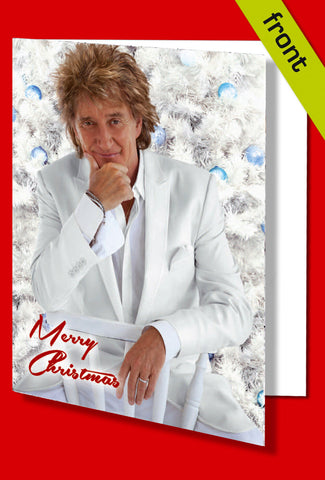 ROD STEWART Autograph Signed Christmas Card Print INCLUDES ENVELOPE A5 Size